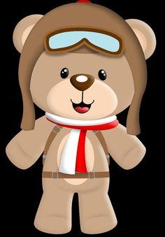 10 Melhores Imagens De Urso Aviador Ursinho Aviador Aviador E