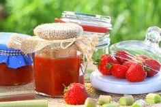 Jahodový džem s rebarborou