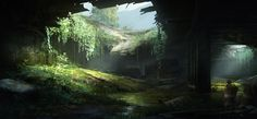 The_Last_of_Us_Concept_Art_Tunnel_JS-01.jpg (1900×884)