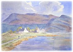 """Landscape tutorial: """"For painting skies I always remember a quote from David Bellamy when I was learning. It was to 'plan like a tortoise and paint like a hare'."""