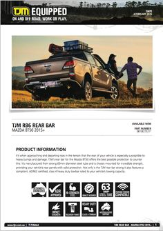 #productinfo! #mazda BT50. Check tjmproducts.com for more info! #getequipped Mazda, Check