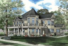 House Plan 62331 | Farmhouse  Victorian    Plan with 6239 Sq. Ft., 3 Bedrooms, 4 Bathrooms, 2 Car Garage