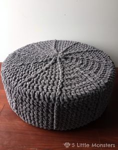 Round Crocheted Pouf