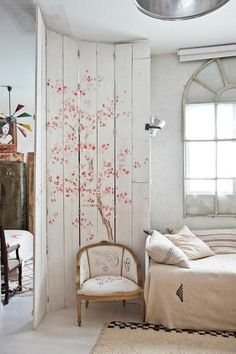 Love this room seperator with artistic touch.