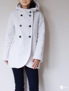 free customised sewing pattern / hood pattern for Yuzu coat / Waffle Patterns sewing patterns
