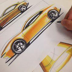 Minimal. BiC sharpie 3 yellow markers.  #thesketchmonkey #design #cardesign #automotivedesign #industrialdesign #minimal #alwayssketching #sketching #drawing #sharpie #touchmarkers #fun by thesketchmonkey