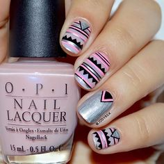 """And here you have the first of the """"Inspired by..."""" designs! ❤️ This one is inspired by the unbelievably talented Kat @cottonconey  Her design has been saved in my phone for ages, it was love at first sight . Base is @opi_products I Pink I Love You Details are made with acrylic paint. Hope you like it!! ❤️ • • Y aquí tenéis el primero de los diseños """"Inspirado en..."""" de este mes! ❤️ Éste está inspirado en el increíblemente talentosa Kat @cottonconey  La foto de su diseño ha es..."""