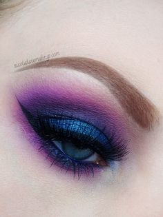 Purple eyeshadow #bright #bold #eye #makeup #eyes #dramatic
