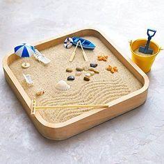 Kenley Mini Sandbox for Desk - Miniature Beach & Zen Garden - Sand Toys Play Kit for Kids, Adults, D Sandbox Sand, Kids Sandbox, Sandbox Ideas, Desk Zen Garden, Zen Garden Design, Miniature Zen Garden, Mini Zen Garden, Garden Fun, Sand Tray