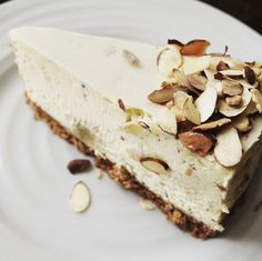 Two reasons to enjoy our current feature and much loved cheesecake - Almond + Marzipan! #asifyouneedareason