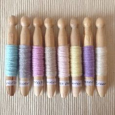 I keep changing my mind but I think I've now decided on this colour scheme for my next baby blanket  #colourswatch #yarnpegs #decisionsdecisions #stylecraftspecialdk #yarn #wool #yarnlove #colourscheme #babyblanket #crochet #crochetersofinstagram #crochetlove #colours #softcolours #pastelcolours #planning #makingplans #newproject #littlerainbowcrochet by littlerainbowcrochet