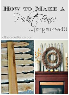 how to diy a decorative picket fence for your wall @At The Picket Fence