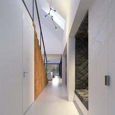 Projekt domu Odważny 1 158 m2 - koszt budowy - EXTRADOM Entryway Closet, Home Projects, Entrance, Bathtub, Stairs, House, Home Decor, Design, Entryway