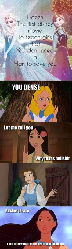 I hate how everyone says that frozen is the first Disney movie to do that. You're all stupid.
