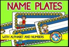 USEFUL NAME PLATES WITH ALPHABET AND NUMBERS 1-10!  ONLY $1 FOR A FEW HOURS!!