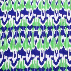 Irat Stripe Blue Cotton Jersey Knit Fabric