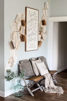 Cotton Stem Interiors farmhouse living room decor book wall vintage.JPG