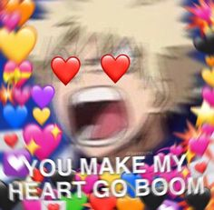 Image discovered by J A Y. Find images and videos about anime, meme and boku no hero academia on We Heart It - the app to get lost in what you love. heart kacchan's heart go boom shared by J A Y on We Heart It