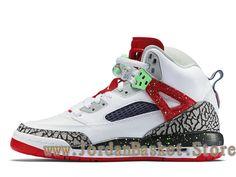 Jordan Spizike BG White Poison Green 317321_132 Chaussures Jordan Site Pas  Cher Pour Femme Blanc-