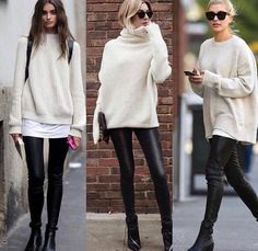 winter outfits with leggings 20 lssige Winteroutfit-Ideen fr 2019 Winteroutfits Winter Outfits For Teen Girls, Winter Outfits For Work, Casual Winter Outfits, Winter Fashion Outfits, Look Fashion, Autumn Winter Fashion, Spring Outfits, Womens Fashion, French Fashion