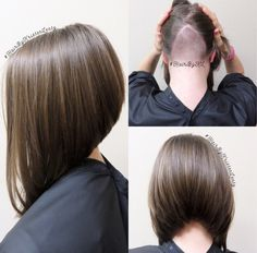 Absolutely love this angled bob. You would never know the underneath is shaved ;P #HairByKristenLentz