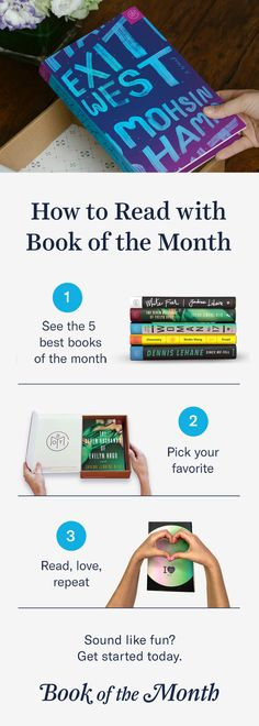 Discover a better way to read. Head to bookofthemonth.com to learn more and start reading for $10 per book.