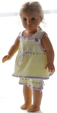 Baby Knitting Patterns Girl Puppet dresses knit instructions – Cute sleepwear for your doll Knitting Dolls Free Patterns, Knitted Dolls Free, Knitting Dolls Clothes, Ag Doll Clothes, Crochet Doll Clothes, Crochet Toys, Girl Puppets, Baby Born Kleidung, Baby Born Clothes