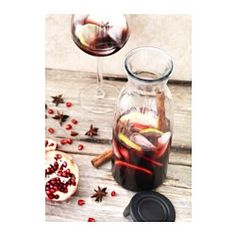 IKEA - VARDAGEN, Carafe with lid, Slim carafe with a practical lid, ideal for storing in the fridge door.