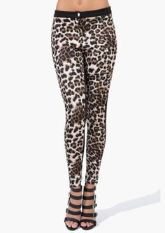I LOVE THESE LEGGINGS. Leggings are my fav thing, as you can probably tell from my board. I also love the animal print.