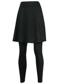 ililily Knee Length Flare Skirt Leggings Plus-Size Elastic Long Skinny Pants (leggings-161-2-3XL)