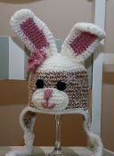 my newest pattern purchase: crochet bunny hat :)