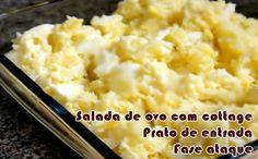 Salada de ovos com cottage - Receitas dukan #receitas #receitasdukan #faseataque #dieta #fitness
