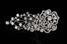 SWARVOSKI Crystal bridal head piece , crystal hair comb , rhinestone head piece