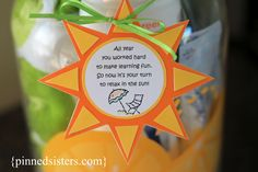 Pinned Sisters: End of year Teacher gift