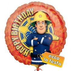 Palloncino sam il pompiere 45cm € 3,39