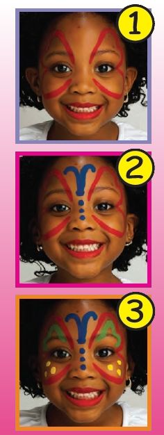 STICK BUTTERFLY face painting for toodlers - Kids FACE PAINTING