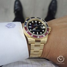 Rolex GMT II Latest model with after market bezel