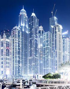 Dubai - gorgeous at night.