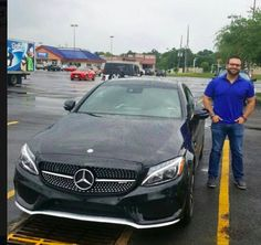 No amount of rain could stop Zac Goldman of Austin, TX, from meeting us today in Houston to pick up his amazingly gorgeous brand-new 2017 Mercedes-Benz C43! What a fun (and fast) drive home that must've been! #ztmotorshappyclients #ztmotorsdreamcar #mbfwb