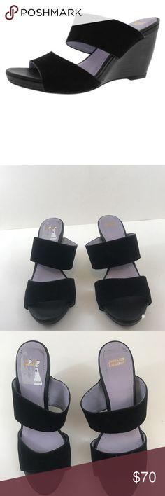 Johnston & Murphy Nisha Wedge Slide Sandals 7.5 M Johnston & Murphy Nisha Wedge Slide Sandals - Women's Size 7.5 M black Johnston & Murphy Shoes Sandals