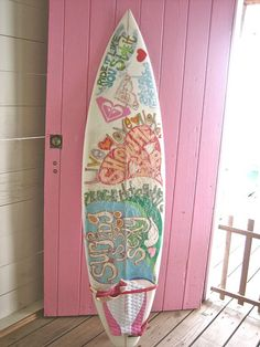 Just love this surf board.I promised long ago I would never, ever, ever try to surf again and let my own board float far away into the ocean at Ocean City. Pink Summer, Summer Of Love, Summer Fun, Summer Days, Summer Vibes, Summer Colors, Summer Themes, Summer Feeling, Beach Themes
