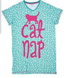 Hatley Cat Nap Sleepshirt Blue/Green