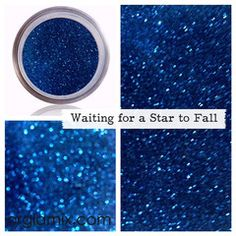 Waiting For A Star To Fall Glitter Pigment - Mineral Makeup Glitter Pigment, Body Glitter, Purple Glitter, Glitter Makeup, Metallic Blue, Glitter Projects, Cosmetic Grade Glitter, Glass Bottles With Corks, Types Of Makeup