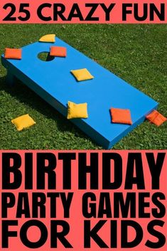 Whether you're organizing a birthday party for girls or for boys, for toddlers or for school-aded kids, this collection of ridiculously fun (and cheap!) birthday party games for kids has lots of indoor and outdoor games to keep your guests happy and entertained. We really love 9, 11, and 22! #birthdaypartygames #gamesforkids #kidsactivities #partygames #partygamesforkids