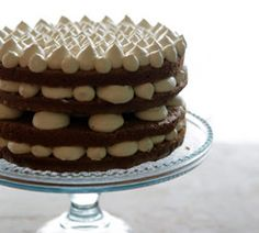 Palace Cakes, Portland Oregon, Carrot Cake. Cake layers are suspended ...