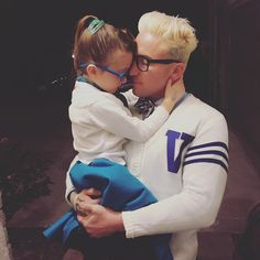 Danny Boy and his little girl Scarlett