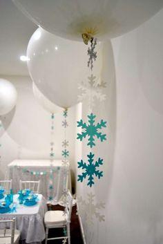 Frozen (Disney) Birthday Party Ideas   Balloon String Accents