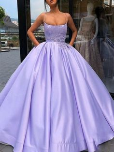 Shop long Quinceanera dresses and gowns at kemedress. Floor-length glamourous ball gowns for Quinceanera parties and courts.Purple, aqua, turquoise, and pink quinceanera dresses. Prom Dresses With Pockets, Cute Prom Dresses, Prom Outfits, Sweet 16 Dresses, Elegant Dresses, Pretty Dresses, Sexy Dresses, Summer Dresses, Wedding Dresses