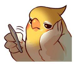 Coca Bird by ErA sticker Cute Cartoon Drawings, Cute Animal Drawings, Bird Drawings, Funny Birds, Cute Birds, Bird Meme, Art Puns, Cute Reptiles, Cute Animal Memes
