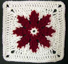 Grannie's Red Flower Square  by Melanie Stiles.  Freebie pattern Ravelry. Nice share thanks so xo
